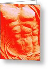 Orange Torso Greeting Card