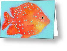 Orange Tropical Fish Greeting Card