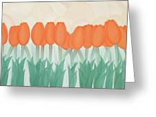 Orange Tulipans Greeting Card