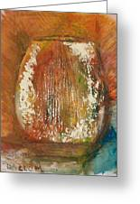 Orange Vase Greeting Card by Gregory Dallum