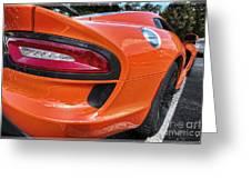 Orange Viper  Greeting Card