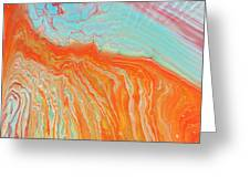 Tangerine Beach Greeting Card