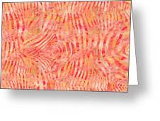 Orange Zebra Print Greeting Card