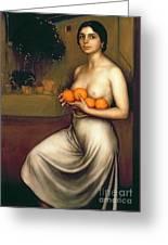 Oranges And Lemons Greeting Card by Julio Romero de Torres