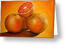 Oranges  Original Oil Painting Greeting Card