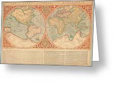Orbis Terrae Compendiosa Descriptio  Quam Ex Magna Universali Gerardi Mercatoris Domino Richardo  Greeting Card