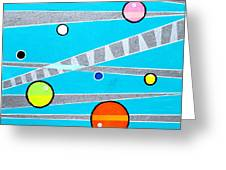 Orbs On Planes Greeting Card