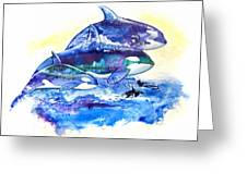 Orca Fantasy Greeting Card