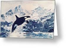 Orca Glacier Greeting Card