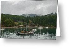Orcas Island Digital Enhancement Greeting Card