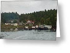 Orcas Island Dock Digital Greeting Card