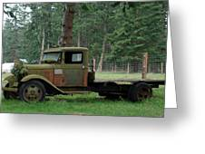 Orcas Island Old Truck Greeting Card