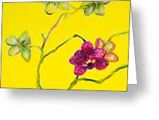 Orchid And Amarillo Greeting Card