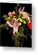 Orchid Arrangement In Color  Greeting Card