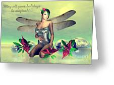Orchid Faerie Holiday Card Greeting Card