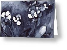 Orchid In Indigo Greeting Card