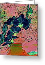 Orchid Japanaise Greeting Card