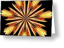 Orchid Kaleidoscope 10 Greeting Card