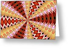 Orchid Kaleidoscope 8 Greeting Card