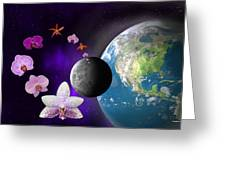 Orchid Moon Base Greeting Card