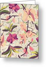 Orchid Pattern Greeting Card