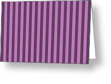 Orchid Purple Striped Pattern Design Greeting Card