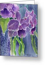 Orchid Rain Greeting Card