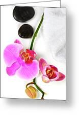 Orchid Spa Composition Greeting Card