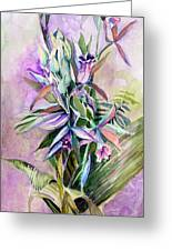 Orchids- Botanicals Greeting Card