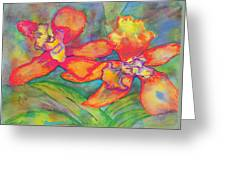 Orchids In Paradise Greeting Card