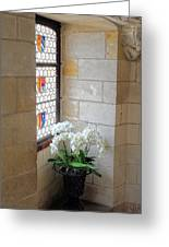 Orchids In The Chateau Greeting Card