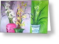 Orchids Trio Greeting Card