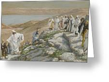 Ordaining Of The Twelve Apostles Greeting Card by Tissot