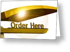 Order Up Greeting Card
