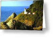 Oregan Lighthouse Greeting Card