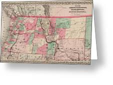 Oregon And Washington Territory Greeting Card