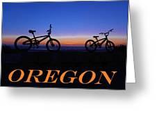 Oregon Bikes 2 Greeting Card