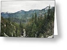Oregon Cascade Range Greeting Card