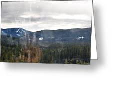 Oregon Cascade Range Landscape Greeting Card