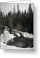 Oregon Cascade Range River Greeting Card