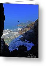 Oregon Coast From Sea Lion Caves Greeting Card