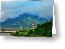 Oregon Columbia River - River View Greeting Card
