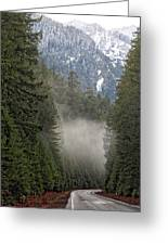 Oregon Highway Mist Greeting Card