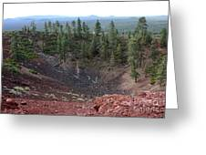 Oregon Landscape - Crater At Lava Butte Greeting Card