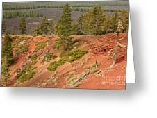 Oregon Landscape - Red Crater Greeting Card