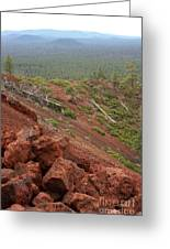 Oregon Landscape - Red Rocks At Lava Butte Greeting Card