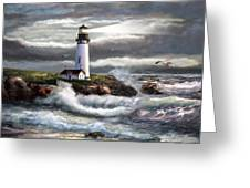 Oregon Lighthouse Beam Of Hope Greeting Card