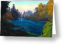 Oregon Santiam Landscape Greeting Card