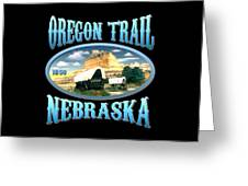 Oregon Trail Nebraska History Design Greeting Card