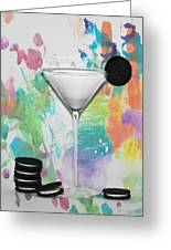 Oreo Happy Hour Watercolor Bg Greeting Card